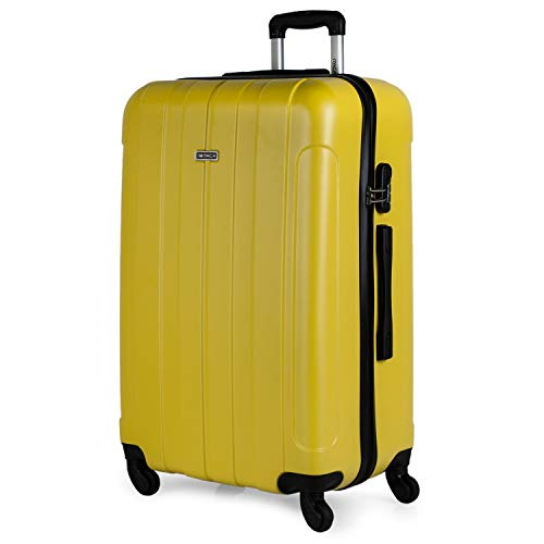 02b44879d 5, ITACA - Maleta de Viaje Grande XL Rígida 4 Ruedas Trolley 73 cm de ABS  Lisa