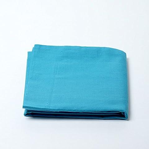 Drap housse 57 fils/cm² 180 x 200 cm Bleu Turquoise pour lit