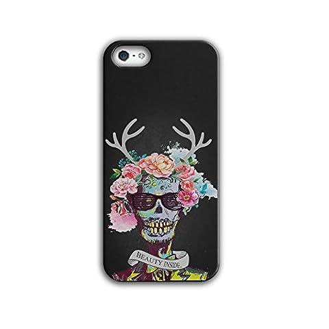 Blume Zucker Schädel Zombie Seele Kostüm iPhone 5 / 5S Hülle | Wellcoda (Draculas Frau Kostüm)