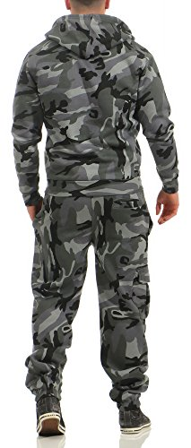 Game Herren Jogginganzug Camouflage Anzug Set Army Sportanzug Trainingsanzug Midnight