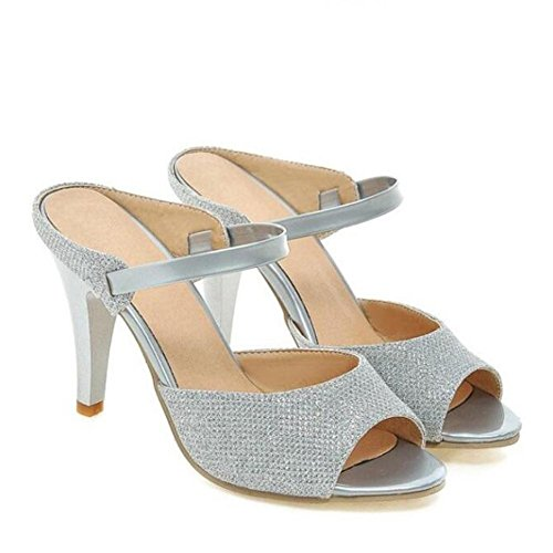 L@YC Le donne High Heel Stilettos sandali peep toe primavera fibbia e sandali estivi , white , 43