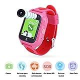 VBESTLIFE Kinder Smart Armband,IP68 Wasserdichte Dual Chat Smart Armband für Jungen,mit Schrittzähler/SOS Notruf/Lange Standby Zeit,unterstüzt Android 3.0 und höher, iOS6.0 und höher(Rot)