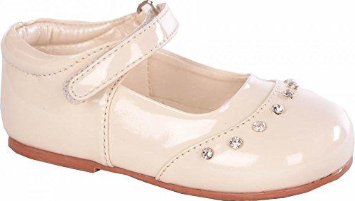 Baby- Crème Patent-Fee-Schuhe Baby-Größe 1 bis 10 Infant