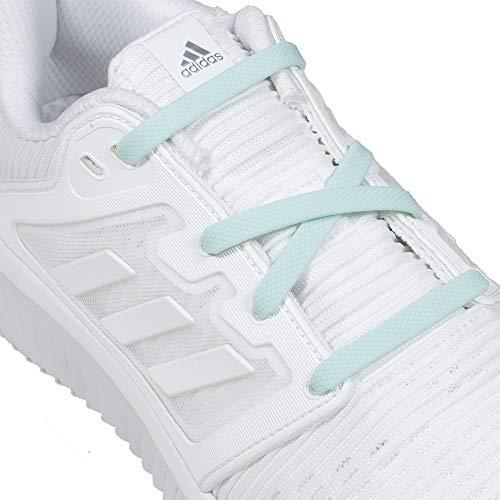 RJ-Sport Elastische Silikon Schnürsenkel Flach für Kinder und Erwachsene - Schleifenloser Schnürbänder Ersatz, Macaron Grün (Flache Sport-schnürsenkel)