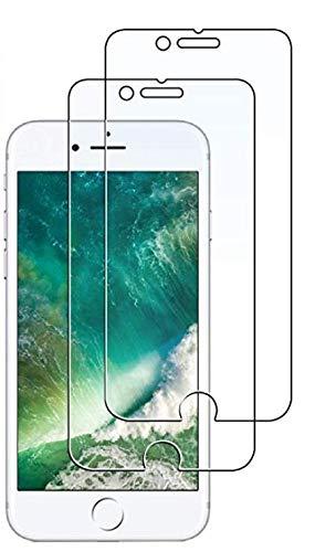 JETech Pellicola Protettiva per iPhone 8 Plus e iPhone 7 Plus, Vetro Temperato, Pacco da 2