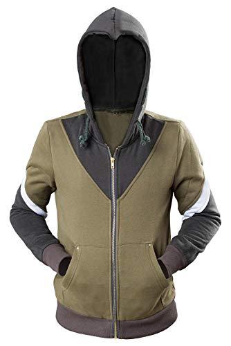 Xiemushop Herren Kapuzen Pullover Zip Jacke Mantel Top Link Cosplay Kostüm Kleidung für Erwachsene Fancy ()