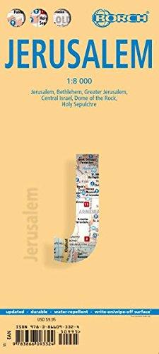 Jerusalem 1 : 8 000. Einzelkarten: Bethlehem, Greater Jerusalem, Central Israel, Dome of the Rock, Holy Sepulchre