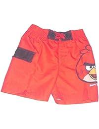 Club de Golf pour enfants Angry Birds Sac de natation avec fermeture avec doublure de visage de Boxer de natation Short de couleur rouge 3-12ans