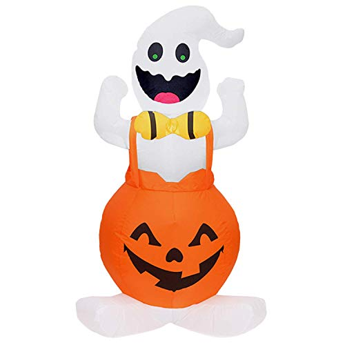 Bobopai Halloween Inflatables,Cute Inflatable Air Blown Ghost in Pumpkin with LED Light and Fan for Ghost Festival Toys Halloween Indoor Porch Outdoor Garden Yard Decorations US Plug 3.94ft - Gargoyle-ornament