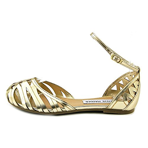 Steve Madden Tamera Synthétique Chaussure Plate gold