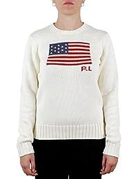 Polo Ralph Lauren Maglia in Cotone Con Bandiera Donna Mod. 211662510 532f854da3