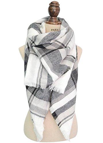 Vlunt Damen Oversized Herbst Winter klassisch karierter Schal
