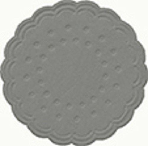 Duni Untersetzer 8lagig Tissue Uni Granit Grey ø 7,5 cm 250 Stück