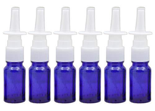 610ml/0.34oz leer Refill Reise Nasal Spray-Flaschen Glas Gläser 10ml blau