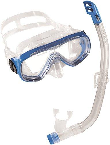 Cressi Unisex - Kinder Schnorchelset Ondina Top, klar/blau, one size, DM1010132