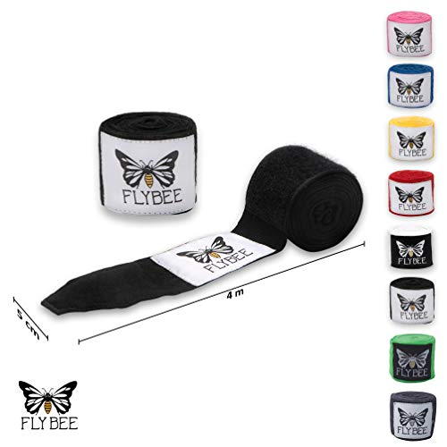 Flybee 4m Boxbandagen Elastisch, Schwarz