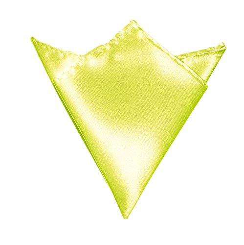 Herren-Einstecktuch Hell-Gelb | Satin Seide-Optik | Taschentuch Stecktuch zum Anzug Sakko Smoking (Bräutigam Taschentuch Hochzeit)