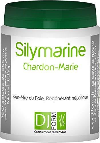 Silymarin - Mariendistel Extrakt - 180 Kapseln - Hochdosiert mit 80% Silymarin - Hergestellt in Frankreich