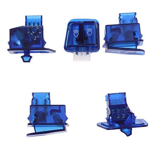 Sharplace Set de 10pcs Capots du Boîtier d'Interrupteur de Moto Accessoire Protection Moto