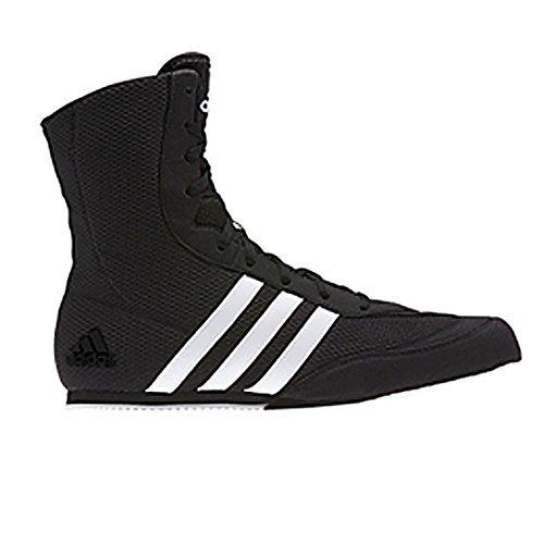 Adidas Botas de boxeo de cerdo de la caja - negro blanco * 2017 nuevo