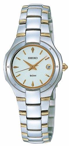 Seiko SXD781P1 - Orologio da polso da donna, cinturino in acciaio inox