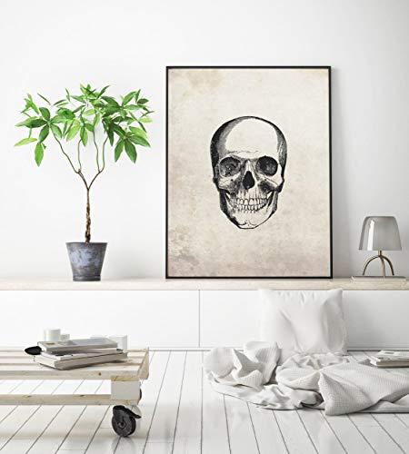 Halloween Dekor Ghost - Vintage Skull Print 1, gruselige Inneneinrichtungen,