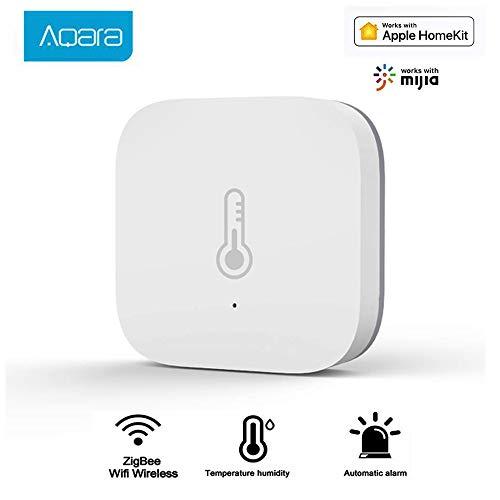 Aqara Temperature Humidity Sensor,Intelligenter Temperatur- und Luftfeuchtigkeitssensor Atmosphärendruck-Echtzeitmonitor Smart Home ZigBee WiFi Drahtloses Arbeiten mit der Mi Home App