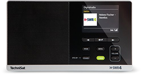 TechniSat DIGITRADIO 215 SWR4 Edition / Digital-Radio, portabel, DAB+, UKW,  Radio mit Farbdisplay, SWR4-Direktwahltaste, Netz- & Batteriebetrieb, schwarz