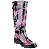 Cotswold Rosefest Womens Synthetic Material Wellies Black