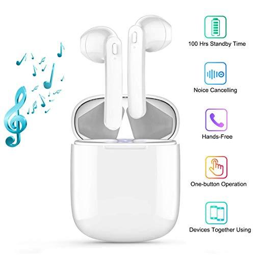 Auricolari Bluetooth,Cuffie Bluetooth 5.0 Auricolari Wireless Stereo Senza Fili Sportivi in Ear con Custodia da Ricarica,TWS Mini...