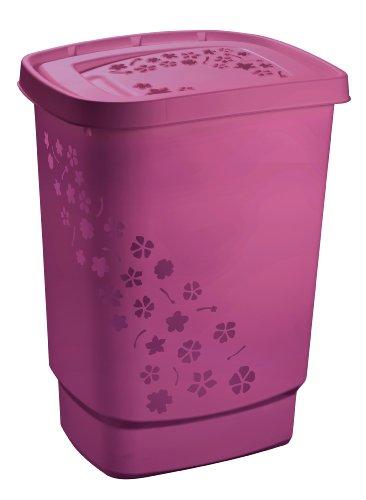 Rotho Wäschesammler 'Flowers' von Rotho aus Kunststoff/Plastik (PP) in pink - Inhalt ca. 55 Liter - diverse Farben auswählbar - (LxBxH)...