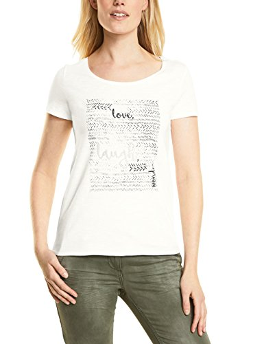 Cecil T-Shirt Donna Weiß (Pure Off White 30125)