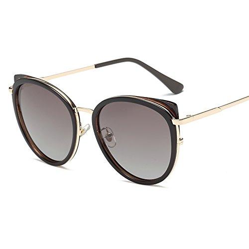 Sonnenbrille Einfache und komfortable Bewegung der klassischen RETRO SONNENBRILLE Männer und Frauen mit allgemeinen verdorbene Gläser anti UV-Sonnenbrille, konische Kaffee -