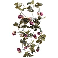 cherrboll 2PCS/10.82FT: Flores Artificiales de Rosas Artificiales, Guirnalda de Flores de