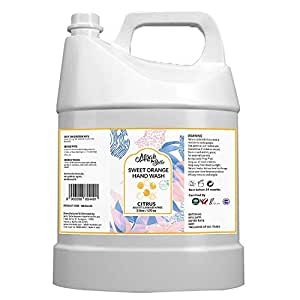 Mirah Belle - Sweet Orange Hand Wash Can (5 LTR) - FDA Approved - Bulk Pack for Refill - Best for Men, Women and Children - Sulfate and Paraben Free - 5000 ML