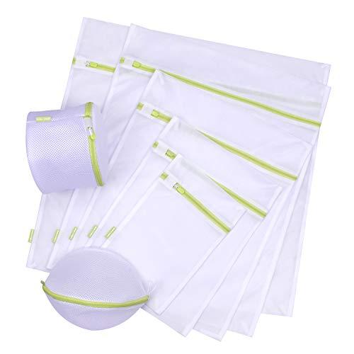 UBAYEE WäschenetzfürWaschmaschine (7 Stück), Mesh WäschesackWäschebeutel Feinwäsche Netz mit Reißverschlussfür BH Socken Unterwäche Strump und Babysachen - Netz-mini-strümpfe