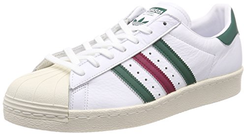 Adidas Superstar 80S, Zapatillas de Deporte para Hombre, Blanco (Ftwbla/Veruni / Rubmis 000), 43 1/3 EU