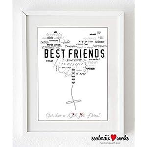 Kunstdruck für die beste Freundin