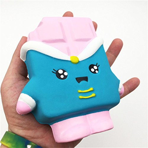 PINEsong Squeeze Druck Helfer Weiche Jumbo Schokoladen duftend Langsam Rising Spielzeug Geschenke (B)