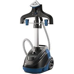Plancha de vapor vertical marca Rowenta. Modelo Master Precision 360 IS6520. Vapor constante de 30g/min. Posee regulación de altura. Desodoriza y sanea eliminando olores de todo tipo de tejidos.
