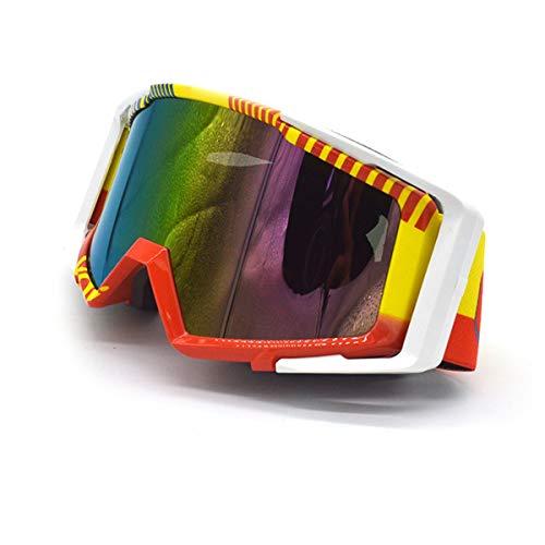 WENDAN Brille Skifahren Reiten Motorradbrillen Brillen Radfahren im Freien Langlauf Motorrad Skibrillen, D