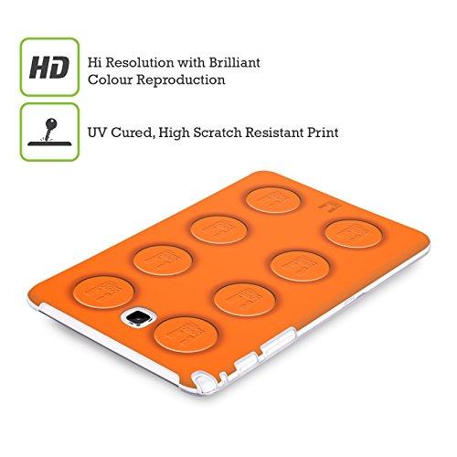 Head Case Designs Gatto Nero E Rosa Gatti A Pois Cover Morbida In Gel Per Apple iPhone 7 Plus / 8 Plus Arancione