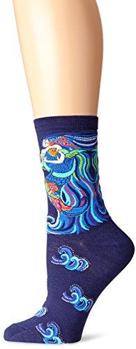 k-bell-calcetines-de-laurel-burch-bolso-de-baile-de-sirenas-azul-marino-acrilico-multicolor