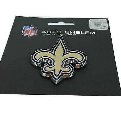 Unbekannt WinCraft NFL New Orleans Saints Acryl Metallic 3D Auto Emblem Aufkleber in 8 x 8 cm -