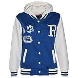 A2Z 4 Kids Kinder Mädchen Jungen R Mode NYC FOX Baseball Jacke Mit Kapuze Uni Kapuzenpulli Alter 2-13 Jahre - Königsblau, 134-140