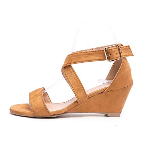 Zehen Sandalen Damen Roman Slope Schuhe mit offenen Buckle Strap Wedges Sandals Platform Low Heel Beach Slippers Flip Flops Sommer Open Toe Strandschuhe Strappy Fashion Cross Ladies Sneakers - Pirate Low Cut