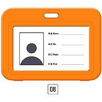 Teabelle Portátil Horizontal Impermeable ID Certificado Tarjeta Badge Holder Empleado Nombre Etiqueta