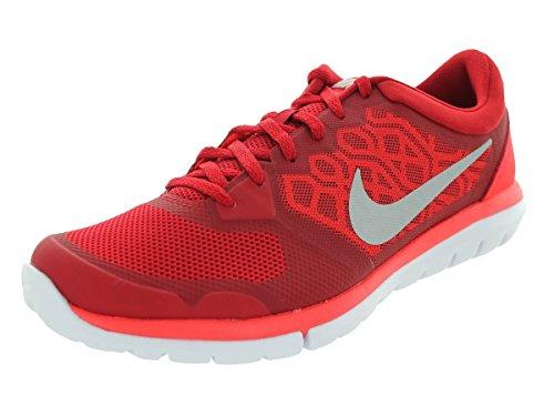 Nike Flex 2015 Rn Scarpe da ginnastica, Uomo Rojo / Plateado / Blanco (Gym Rd / Mtllc Slvr-Brght Crmsn)