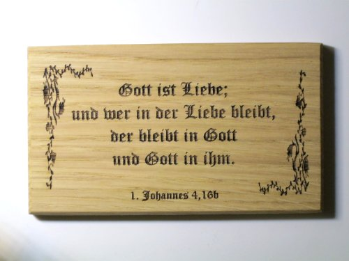 Geschenk Sprüche Kommunion Konfirmation -Gott ist Liebe- Altdeutsch