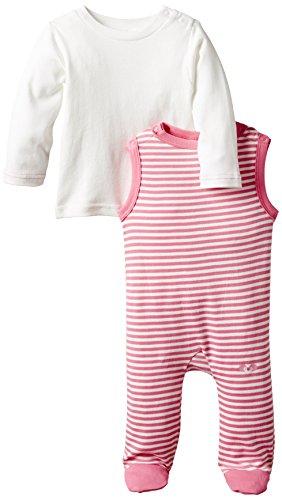 Twins Baby - Mädchen Strampler, gestreift, im Set mit Langarmshirt, Gr. 56, Rosa (morning glory)